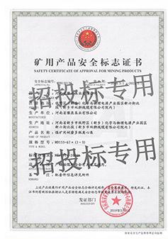 离心泵安全标志证书