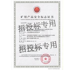 豫泉泵业安全标志证书